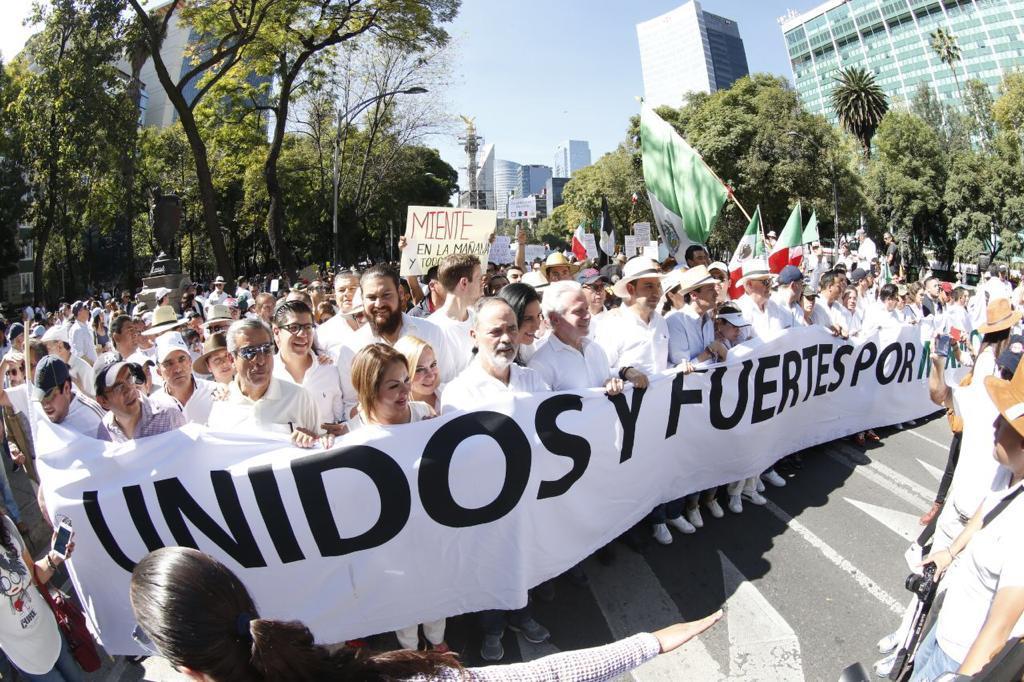 Participa Minerva Hernández en marcha porMéxico
